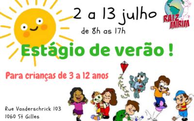 Estágio de Verão – 2 a 13 de Julho 2018